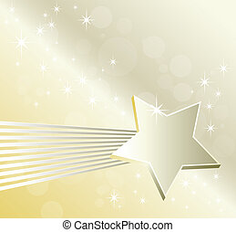 Falling star template design - Festive abstract background -...