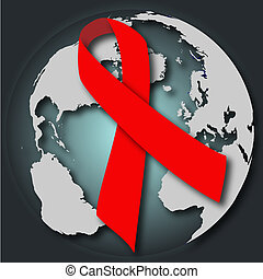 AIDS HIV health medical illustration card