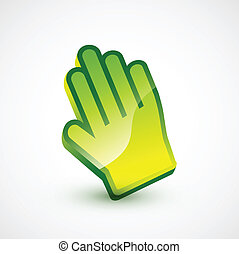 Vector colorful glossy hand pointer - Vector illustration...