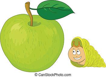 Snail on apple
