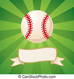 Baseball on a bright background - Baseball on a bright green...
