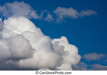 storm clouds on blue sky