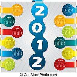 Bubble label calendar for 2012 - Bubble label calendar...