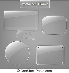Glass Frame Set - 4 Glass Framework, Vector Illustration