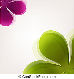 Abstract Flowers, Vector Illustration