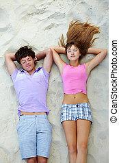 Relaxing teens