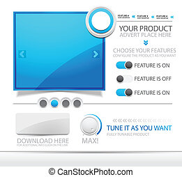 Vector web ad template - Vector illustration for your design