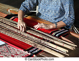 traditional malaysian loom detail