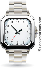 silver wristwatch - vector design of silver wristwatch