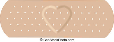 The adhesive bandage with love