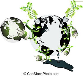 Ecology world and green power