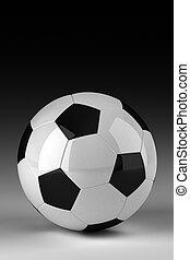 Studio shot of soccer ball - Soccer ball in studio