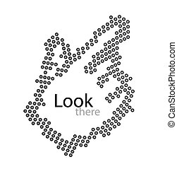 Vector dot cursor - Vector illustration for your design