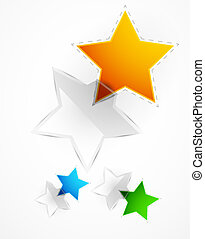 Vector glossy star frame for text