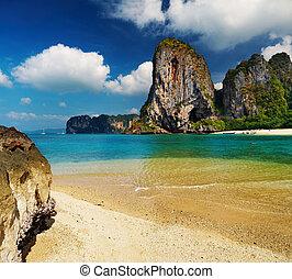 Tropical beach, Andaman Sea, Thailand - Tropical beach at...