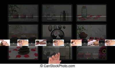 Hand choosing clips about recreatio