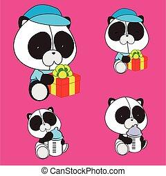 panda bear baby cartoon set6