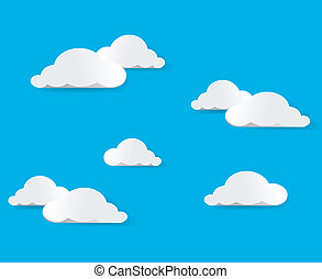 Sky And Clouds. Vector illustration