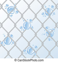 Chain Fence with water drop.