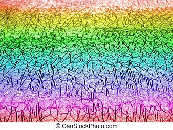 abstract cardiogram line heap, ecg details - focus on...