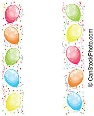 borda, balões