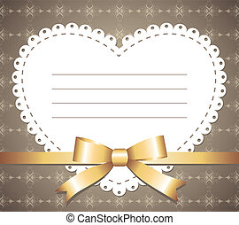 vintage frame - cute vintage romantic frame with gold bow