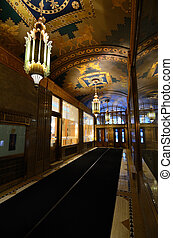 French Building Lobby - Interior of the art deco French...