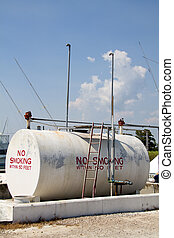 Fuel Storage Tank - Above ground fuel storage tank located...