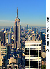Manhattan Island Skyline - Skyline of Manhattan looking...