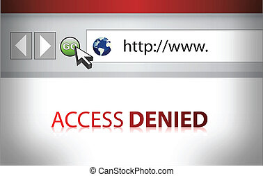 Website access denied illustration design