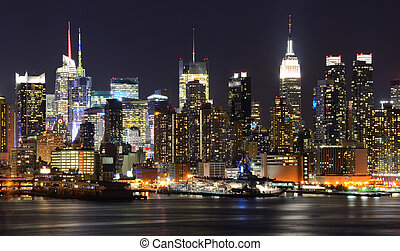 Manhattan Skyline - New York City skyline viewed from...