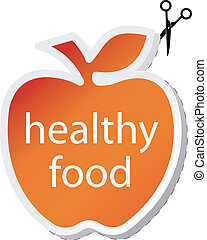 Icon apple by healthy food.