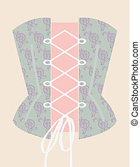 Corset with ribbon