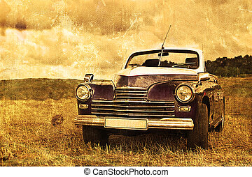 old car - worn, scratched old car photos