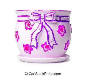 flowerpot - beautiful flowerpot isolated on white
