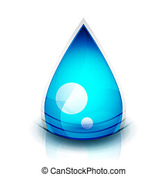 Vector abstract blue water sphere icon