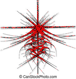 Fantastic Red Abstraction of lines