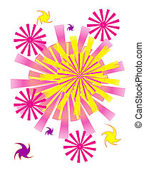 Abstract colorful background Fireworks