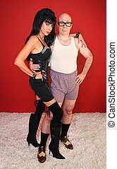 Dominatrix with Confident Man