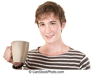 Smiling Teen With Mug