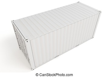 3d cargo container blank