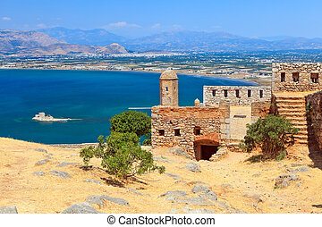 Palamidi castle in Nafplion, Greece