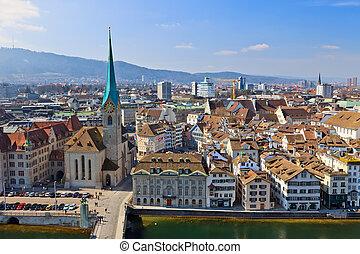 View on Zurich, Switzerland