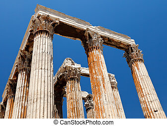Atenas,  olympian,  zeus, Templo, Grécia
