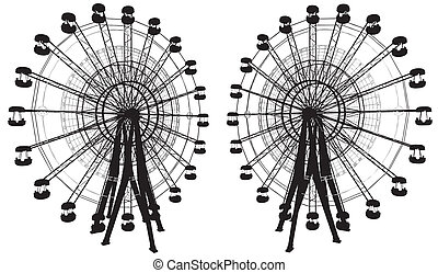Carousel With Compass Vector