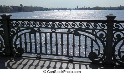 Panorama of Petersburg on Neva River from bridge - panorama...