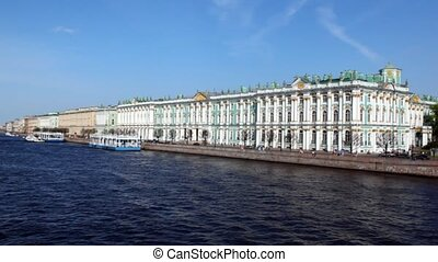 Building Hermitage stands on embankment - building Hermitage...