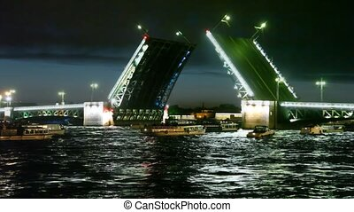Some boats float to bridge dissolved for night