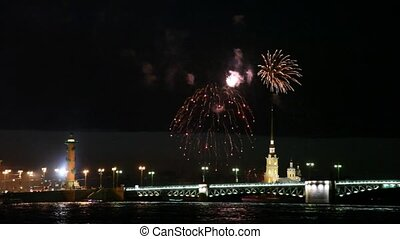 Fireworks over Peter and Paul fortress