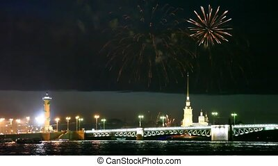 Salute over Peter and Paul fortress - salute over Peter and...